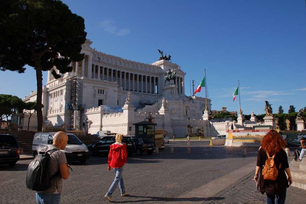 Altare della patria II Vittoriano Emanuele Anıtı