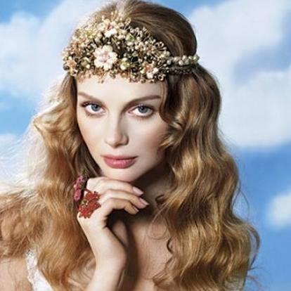 Gelin Saçı Çiçekli
