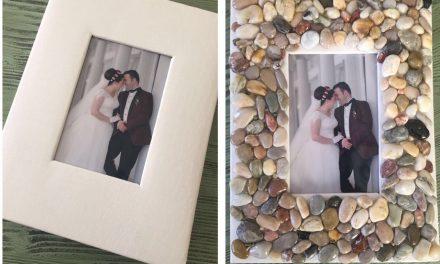 Tatil Anısı / Taşlardan Fotograf Albümü Kaplama